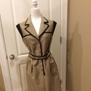 Escada khaki shirt dress size 10